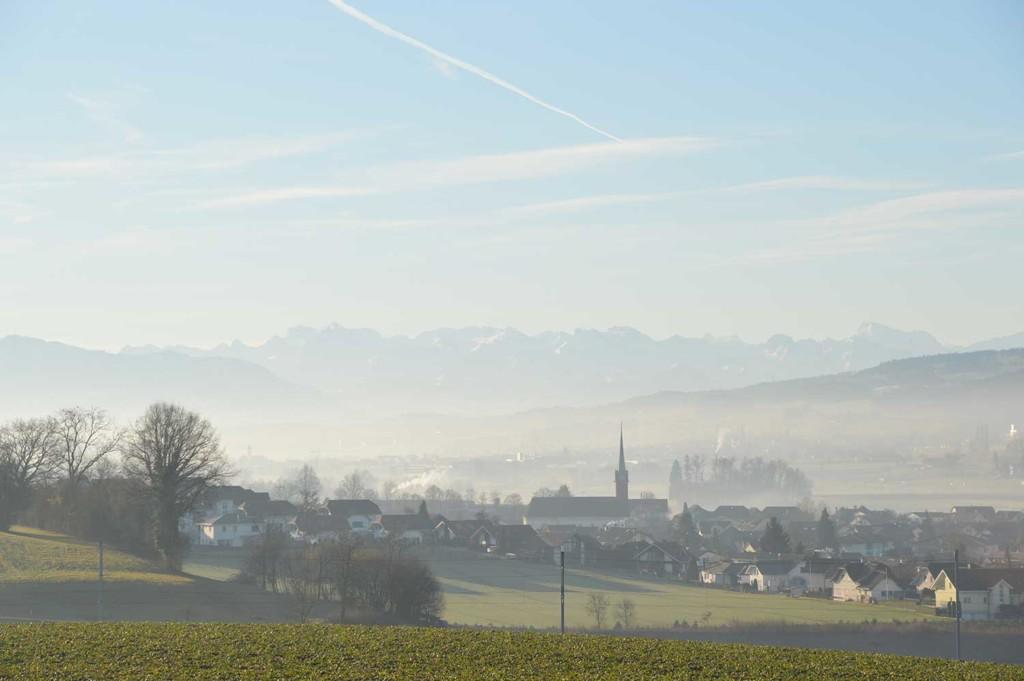 Blick auf Waltenschwil-AG